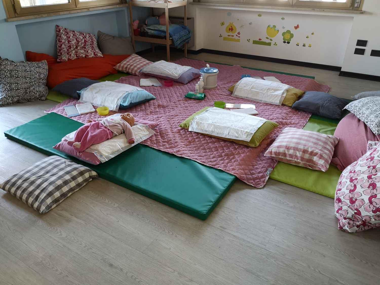 Postazione massaggio infantile